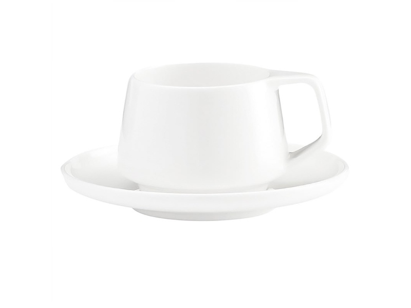 Marc Newson by Noritake Set of 2 Fine Bone China Espresso Cup and Saucer Sets