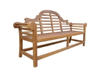 LivingStyles Marlboro Teak Timber Outdoor Bench, 200cm