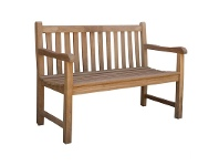 LivingStyles Montana Teak Timber Outdoor Bench, 120cm