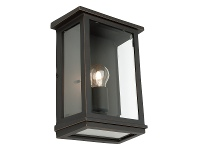 LivingStyles Madrid IP44 Exterior Wall Lantern, Large, Bronze