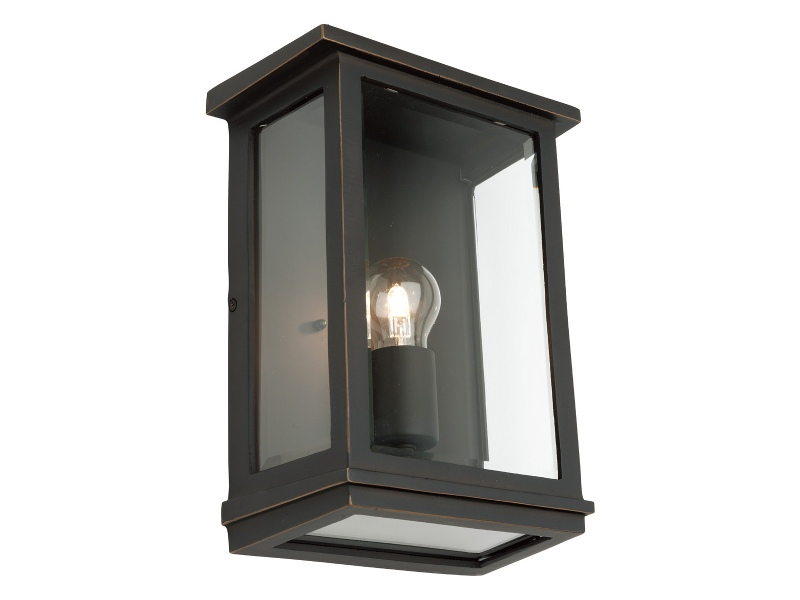 Madrid IP44 Exterior Wall Lantern, Small, Bronze