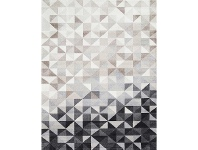 LivingStyles Matisse Triangles Turkish Made Modern Rug, 80x150cm, Charcoal
