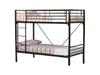 LivingStyles Matrix Single Bunk Bed Metal Tubular Steel Black