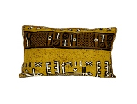 LivingStyles Renato Cotton and Wool Lumbar Cushion