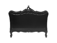 LivingStyles Fourchambault Hand Crafted Mahogany Queen Size Headboard - Distressed Black