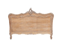 LivingStyles Fourchambault Hand Crafted Mahogany Queen Size Headboard, Weathered Oak