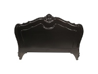 LivingStyles Challuy Hand Crafted Mahogany Queen Size Headboard - Distressed Black
