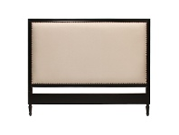LivingStyles Ygrande Hand Crafted Mahogany Upholstered Queen Size Headboard - Distressed Black