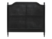 LivingStyles Lapalisse Hand Crafted Mahogany Rattan Queen Size Headboard - Distressed Black