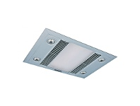 LivingStyles Martec Linear 3-in-1 Bathroom Heater with High Extraction Exhaust Fan and LED Illumination - Silver (MBHL1000S)