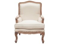 LivingStyles Treviso Hand Crafted Mahogany Armchair, Weathered Oak