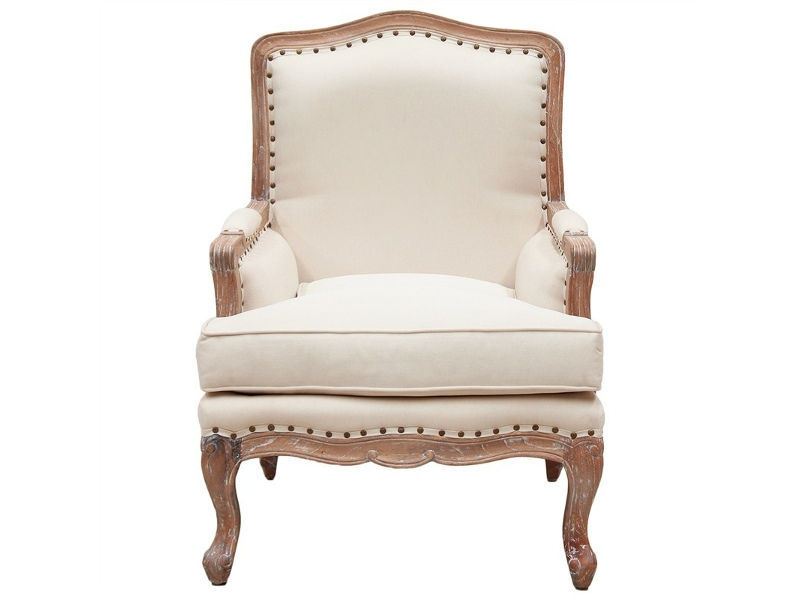 Treviso Hand Crafted Mahogany Armchair, Weathered Oak
