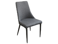 LivingStyles Kingsley Fabric Dining Chair, Charcoal / Black