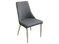 LivingStyles Kingsley Fabric Dining Chair, Charcoal / Natural