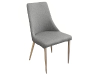 LivingStyles Kingsley Fabric Dining Chair, Grey / Natural