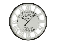 LivingStyles Old Town Iron Round Wall CLock