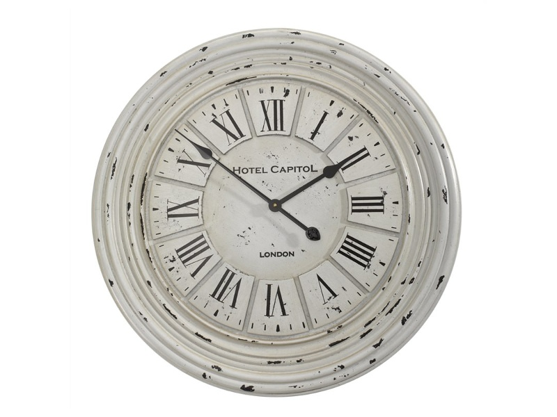 Hotel Capitol Distressed 68cm Round Wall Clock