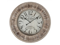 LivingStyles Old Town Wooden Round Wall Clock