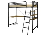 LivingStyles Melbourne Single Bunk In Black