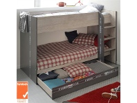 LivingStyles Parisot Metz French Made Single Bunk Bed without Storage Drawer