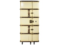 LivingStyles Stateroom Solid Timber Bar Trunk, Ivory