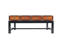LivingStyles Travel Solid Timber 8 Drawer Salon Table, 118cm