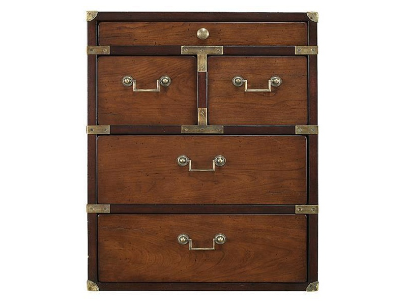 Campaign Solid Timber 5 Drawer Chest