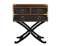 LivingStyles Bombay Solid Timber Box Side Table - Black