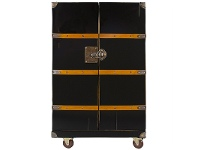 LivingStyles Polo Club Timber Bar Trunk, Black