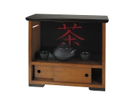 LivingStyles Travel Timber Tea Cabinet