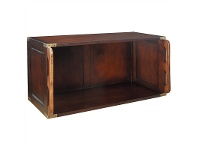 LivingStyles Campaign Solid Timber Stackable Unit - Large Open Storage Module