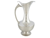 LivingStyles Annora Large Aluminium Grecian Urn Vase with Handle - Silver