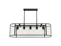 LivingStyles Liverpool Metal and Glass Oval Pendant Light