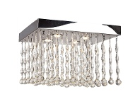 LivingStyles Magnus Steel and Crystal Ceiling Light