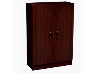 LivingStyles Mission 120cm Shoe Cabinet - Walnut