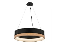LivingStyles Fitzgerald Metal Shade LED Pendant Light, Black
