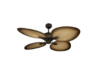 LivingStyles Oasis Tropical Style Palm Leaf Blade Ceiling Fan by Martec - Antique Bronze Finish
