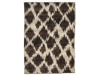 LivingStyles Egyptian Made Moroccan Cross Lines Design Rug in Chocolate - 290x200cm