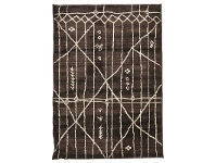 LivingStyles Egyptian Made Moroccan Tribal Design Rug in Chocolate - 290x200cm