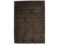 LivingStyles Egyptian Made Moroccan Diamond Lines Design Rug in Chocolate - 330x240cm