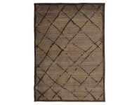 LivingStyles Egyptian Made Moroccan Rustic Design Rug in Chocolate - 230x160cm