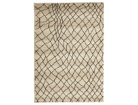 LivingStyles Egyptian Made Moroccan Web Design Rug in Cream - 330x240cm