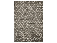 LivingStyles Egyptian Made Moroccan Web Design Rug in Grey - 330x240cm