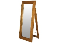 LivingStyles Hadley Solid Mahogany Timber Free Stand Dressing Mirror - Light Pecan