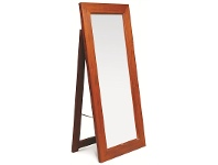 LivingStyles Hadley Solid Mahogany Timber Free Stand Dressing Mirror - Mahogany