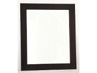 LivingStyles Solid Mahogany Frame Mirror without Stud 80 x 90 in Chocolate