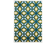 LivingStyles Nadia Egyptian Made Indoor/Outdoor Rug in Blue & Citrus - 230x160cm
