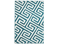 LivingStyles Dolce Egyptian Made Indoor/Outdoor Rug in Peacock Blue - 290x200cm