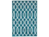 LivingStyles Lucid Egyptian Made Indoor/Outdoor Rug in Peacock Blue - 330x240cm
