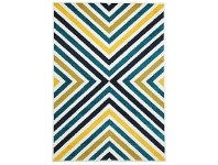 LivingStyles Hex Egyptian Made Indoor/Outdoor Rug in Blue & Citrus - 330x240cm